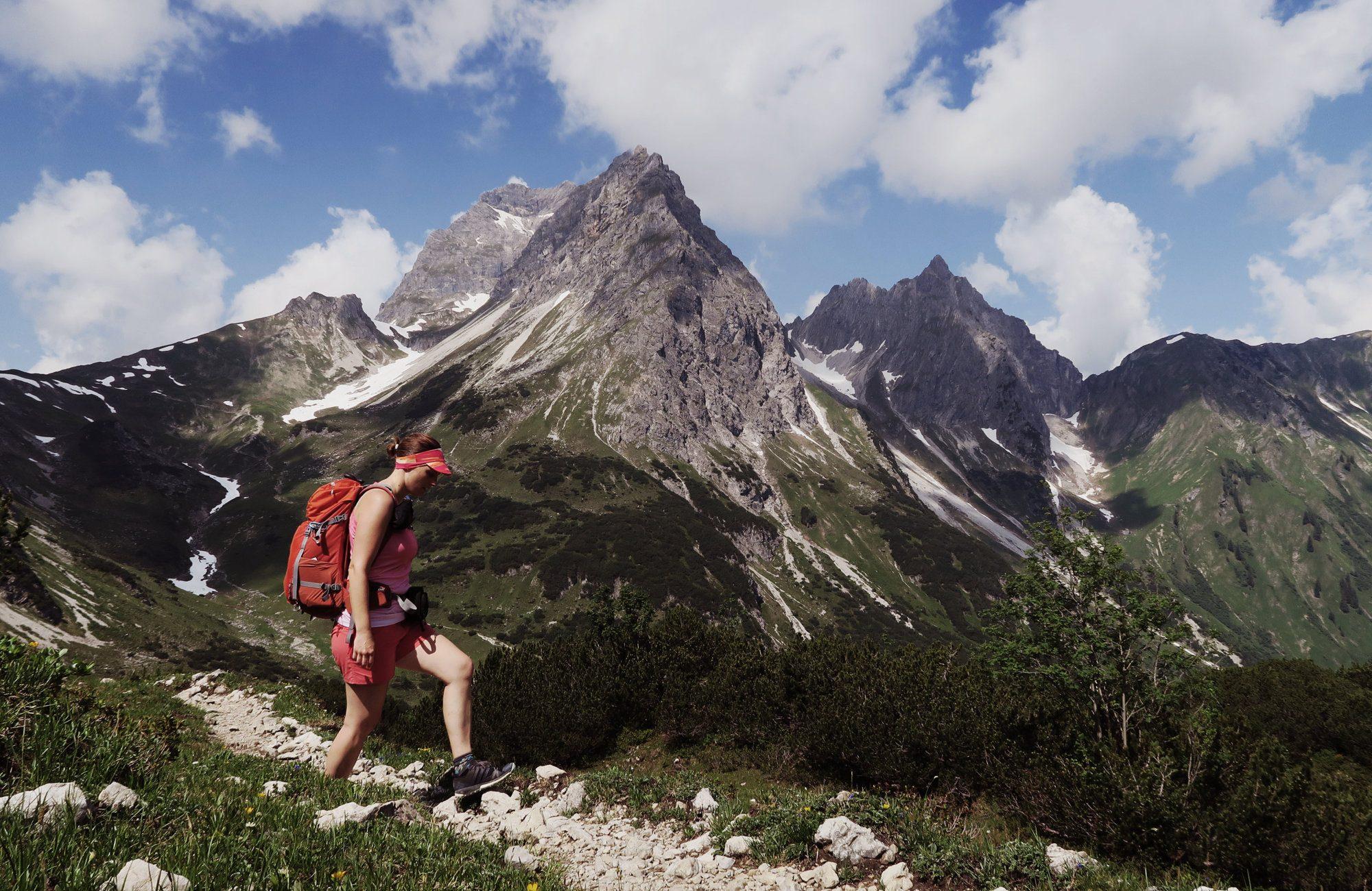 Blick zum Widderstein, Gemsteltal Geißhorn Wanderung Kleinwalsertal
