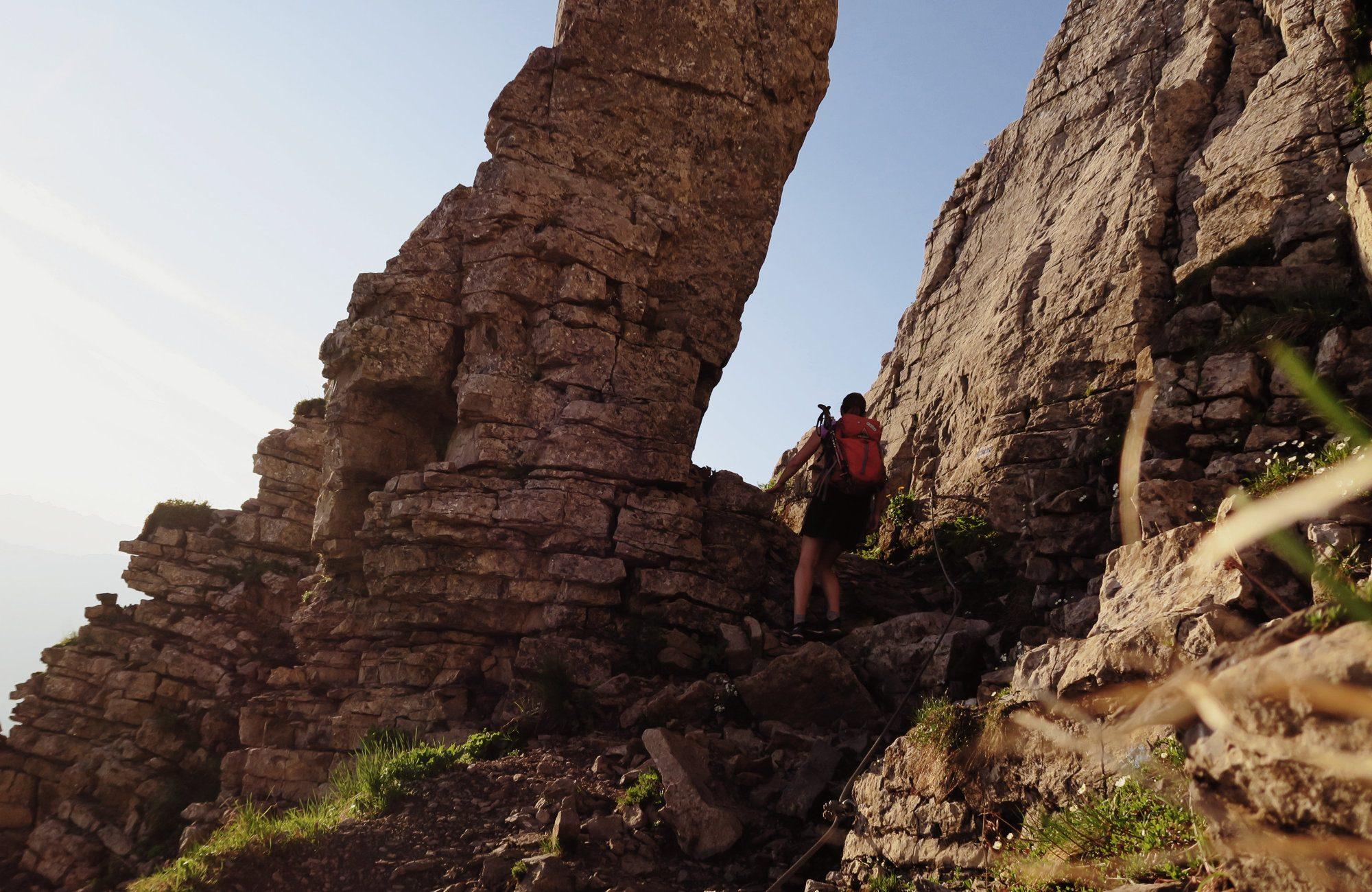 Ifenmauer, Hoher Ifen Wanderung zum Sonnenaufgang Kleinwalsertal
