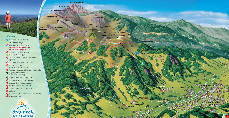 Brauneck Bergbahn Wanderplan
