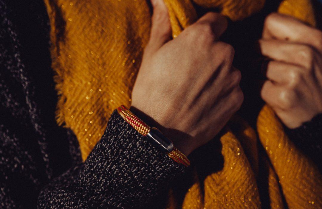 Fjella Bergseil Armband Einfachseil Murmeltier, Armband bunt, Magnetverschluss, Berge