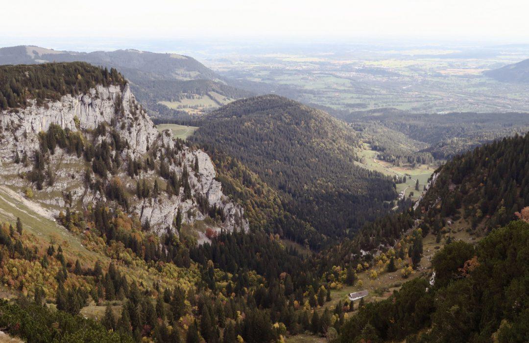 Herbstwanderung Brauneck Benediktenwand Längental Fjella
