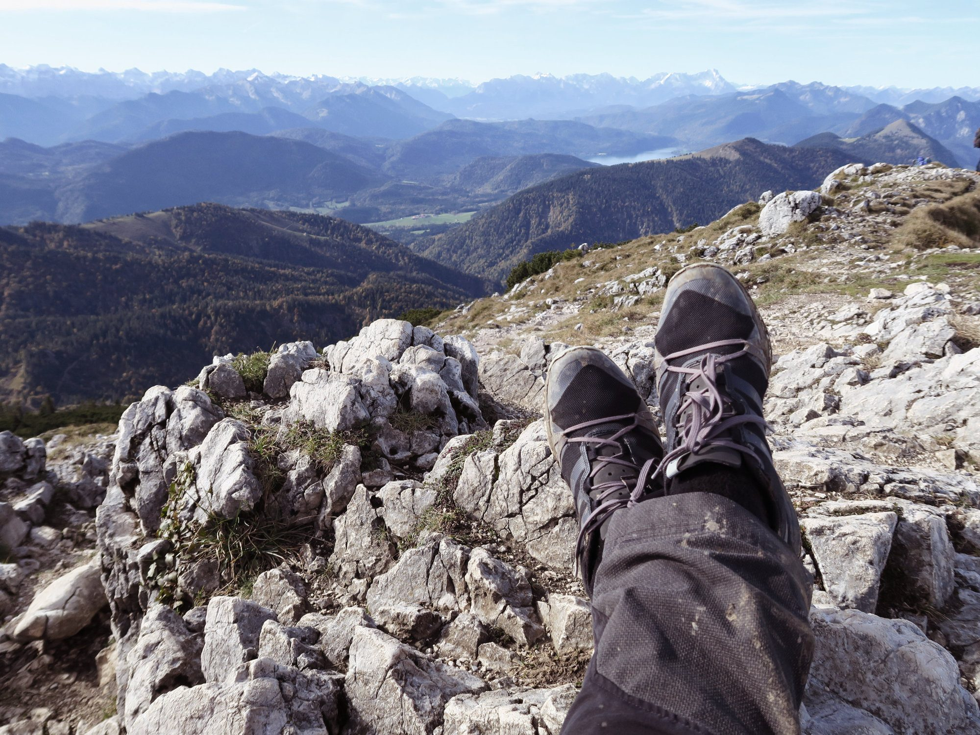 Gipfelpause an der Benediktenwand