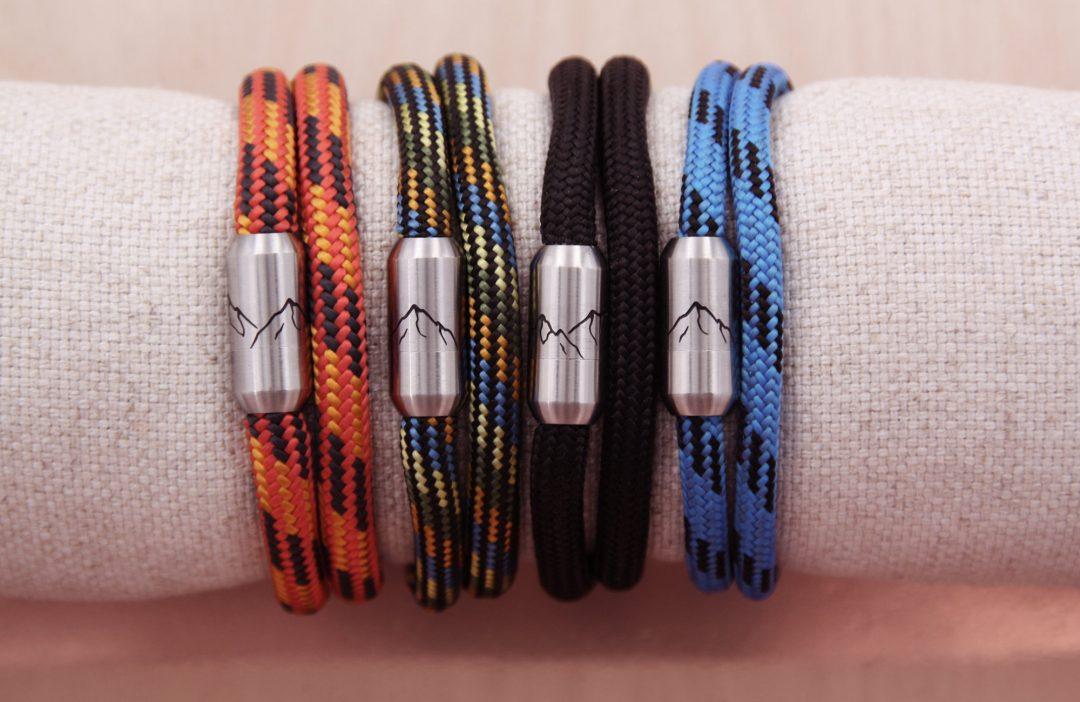 Bergseil Armband Doppelseil 4 Farben Webseite
