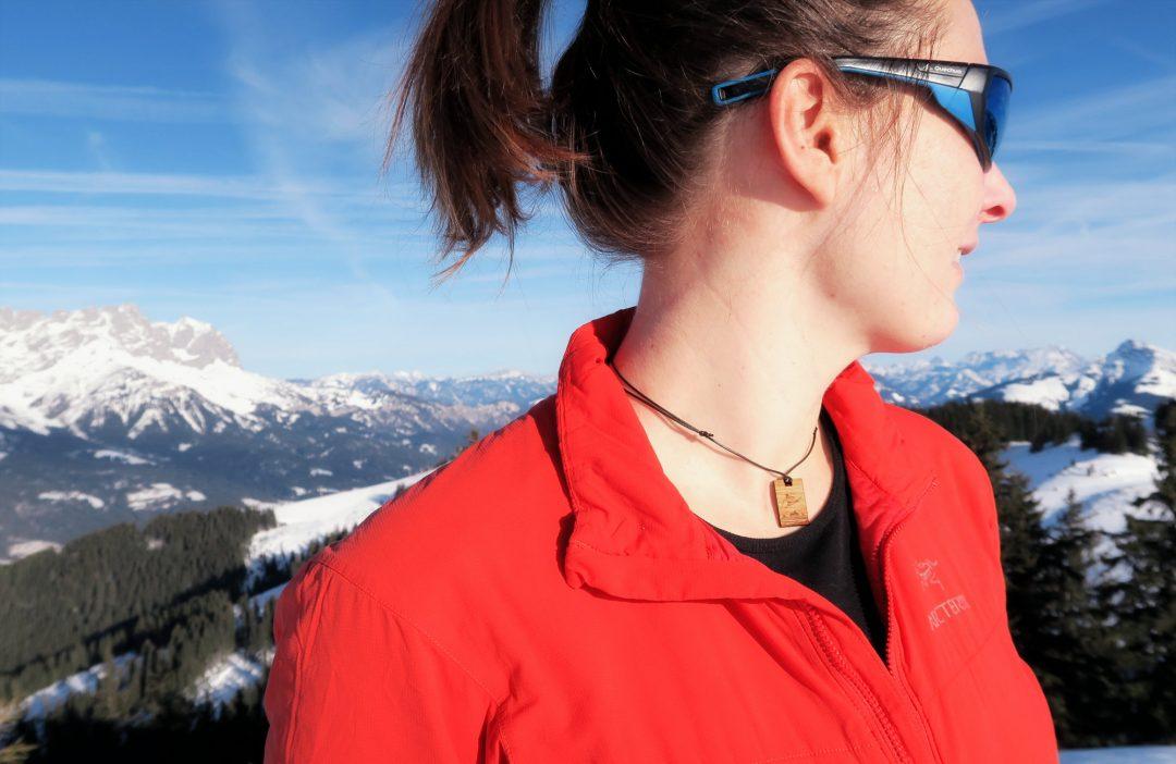 Fjella Skifahrer Holzkette