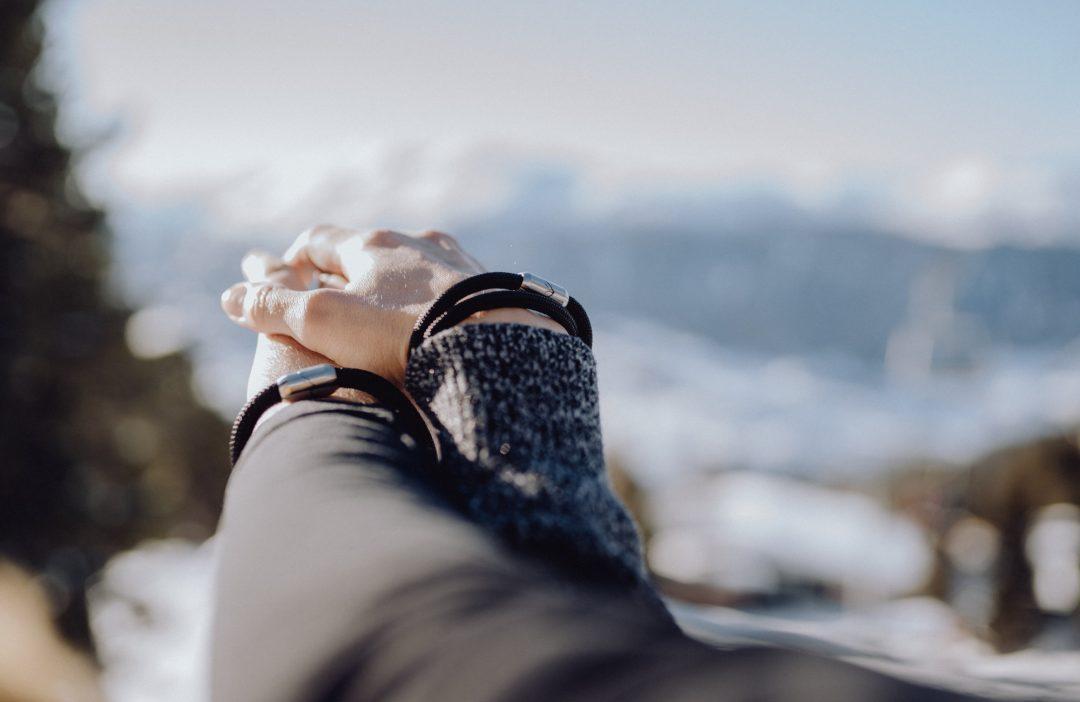 Fjella Bergseil Alpensalamander, Armband Berge, Bergschmuck, Partnerarmbänder, Valentinstag, Verlobung, Bergfan