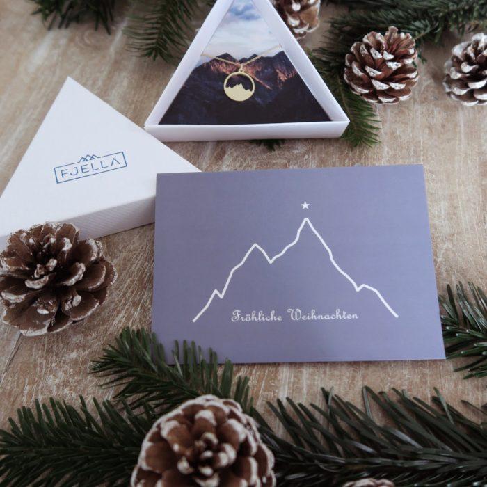Weihnachtskarte Gipfelsstern Flatlay mit Alpenblick Kette Weihnachten 2020 (1).JPG