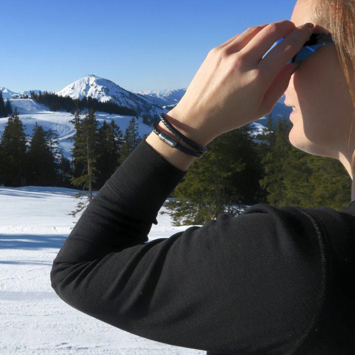 Bergseil Armband Doppelseil Leder Birkhahn Winter Webseite 2020