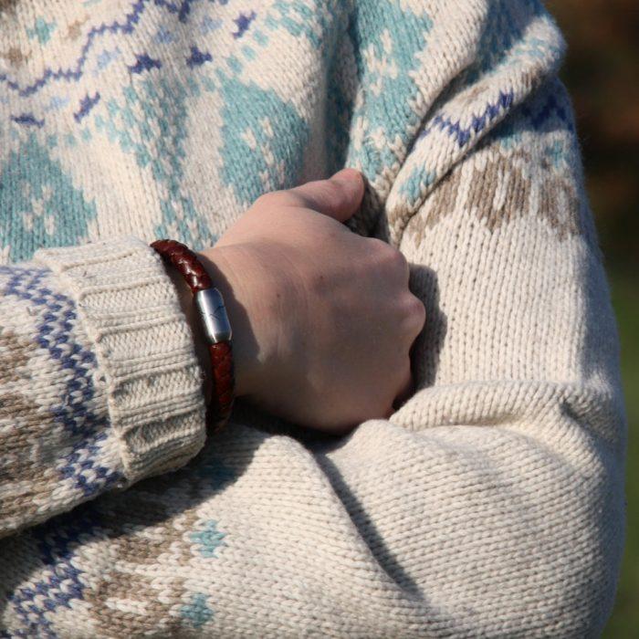 Bergseil Armband Einfachseil Leder Haselhuhn Model (2)