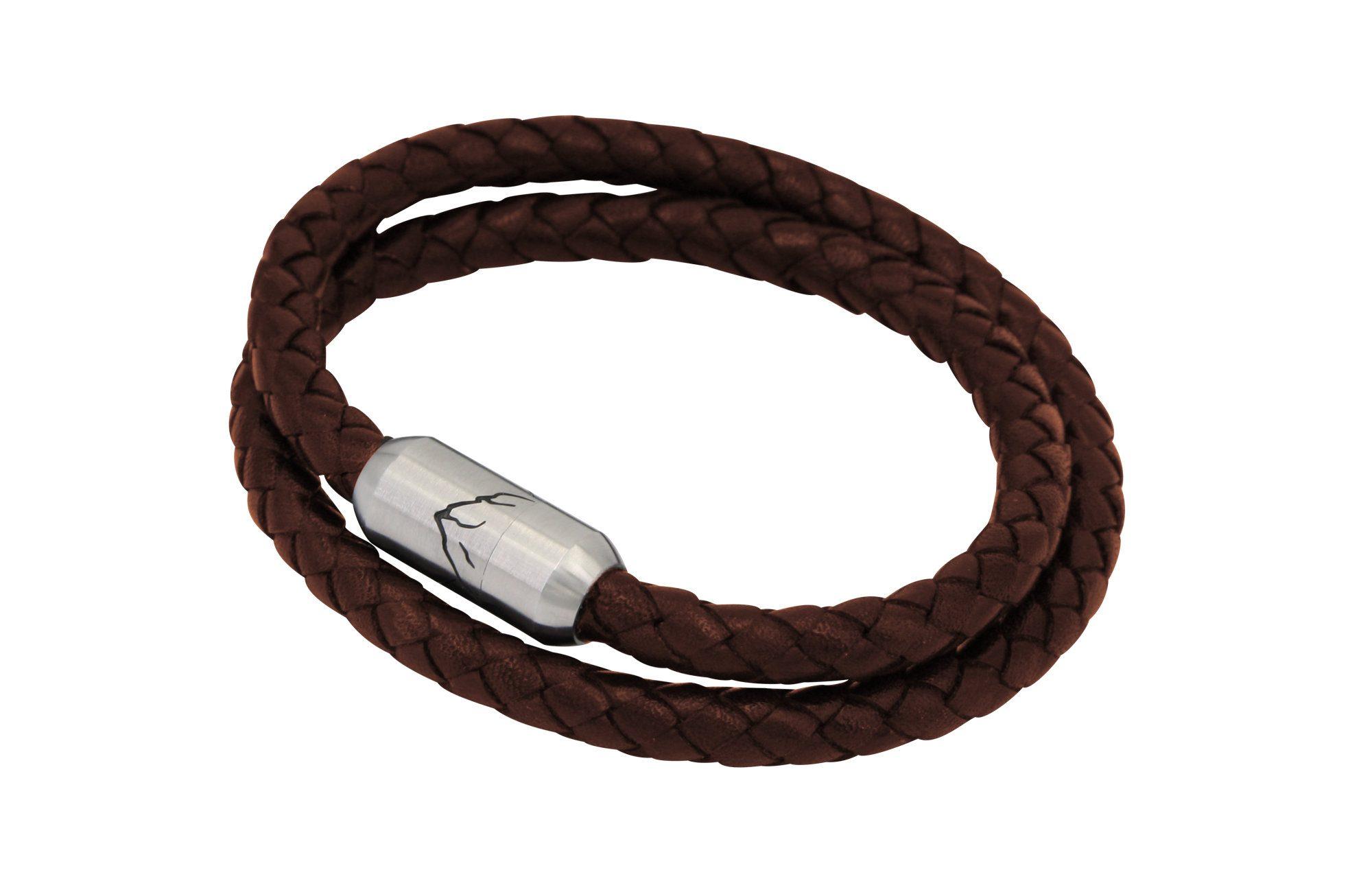 Fjella Bergseil Armband Doppelseil Haselhuhn Leder Braun Webseite
