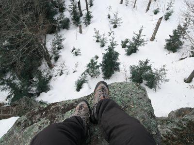 Blick von der Großen Kanzel, Felswandergebiet Bayerischer Wald, Schneeschuhwandern im Bayerischen Wald