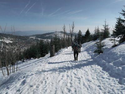 Winterwanderung auf den Lusen, Schneeschuhwandern Bayerischer Wald