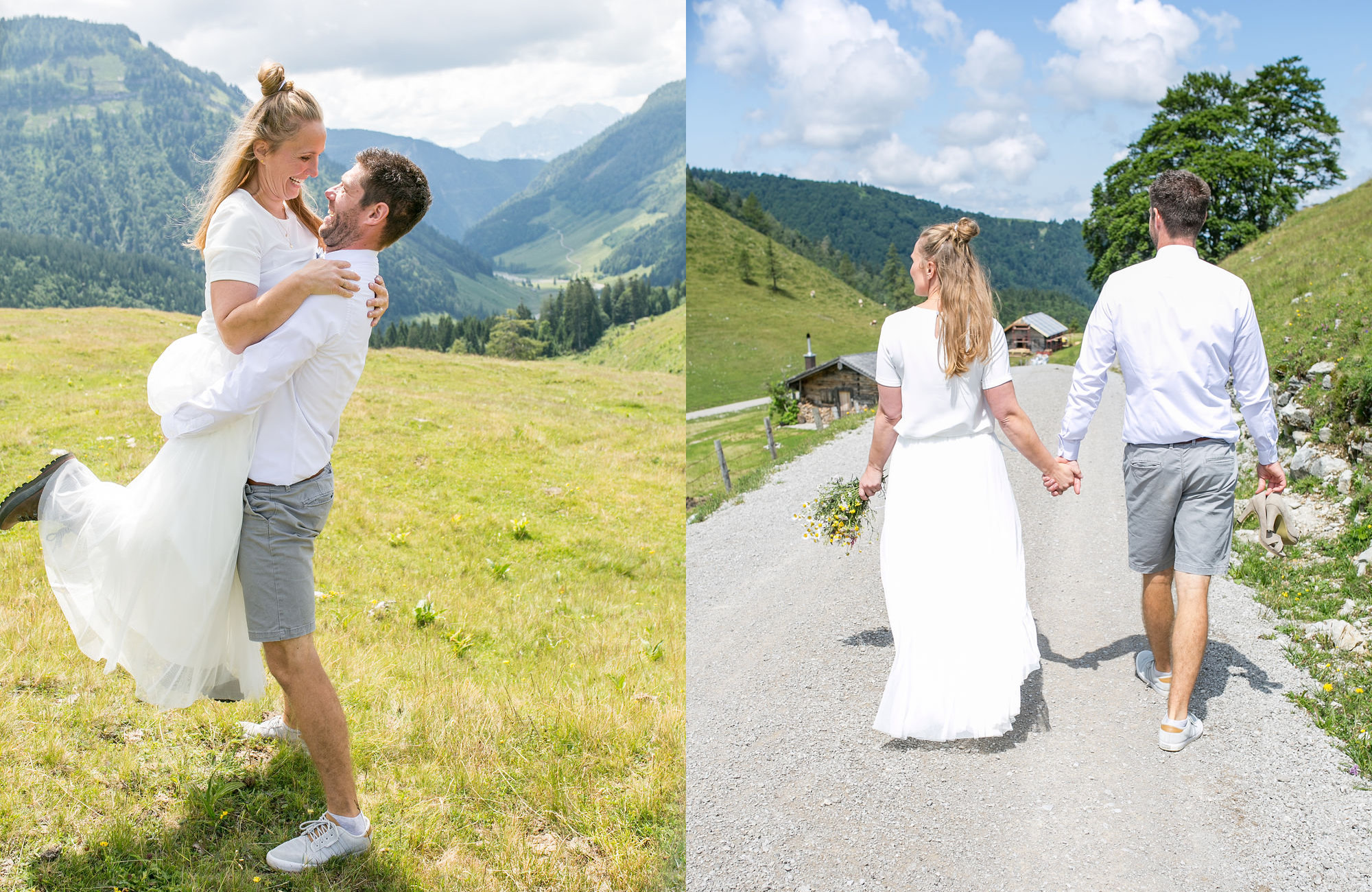 Berghochzeit, Heiraten in den Bergen, Hochzeit in den Bergen, Almhochzeit