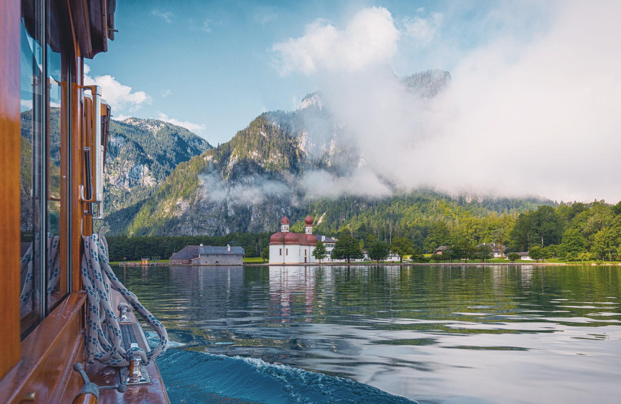 Bootsfahrt am Königsee, St. Bartholomä Kirche, Heiraten in den Bergen, Standesamtlich Heiraten in den Bergen, Almhochzeit, Hochzeit in den Bergen
