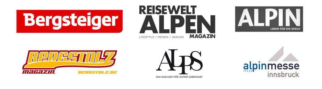 Gesehen in Presse Logos Bergseil Armband Jan 2020