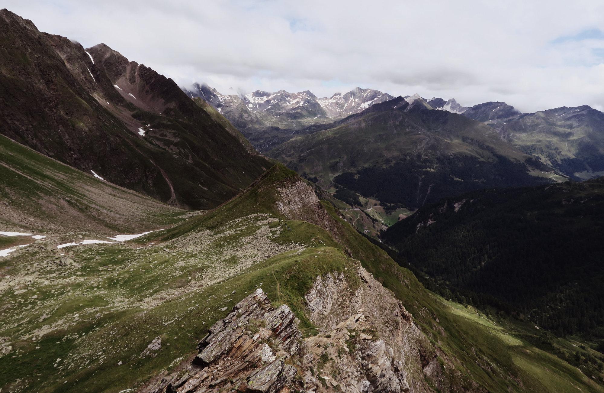 Wanderweg Oberglanegg Alm, Wanderung Königsjoch, Obergurgl nach Südtirol, Bergwandern Ötztal, Wandertour Ötztal, Stubaier Alpen, Tirol