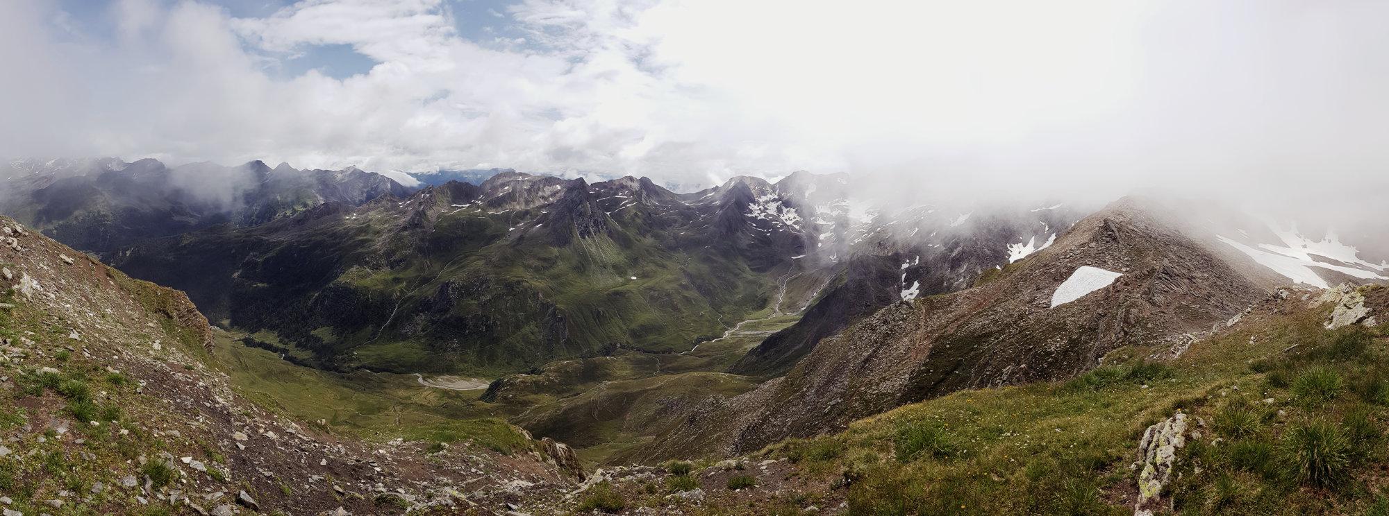 Panorama Königsjoch, Wanderung Königsjoch, Obergurgl nach Südtirol, Bergwandern Ötztal, Wandertour Ötztal, Stubaier Alpen, Tirol