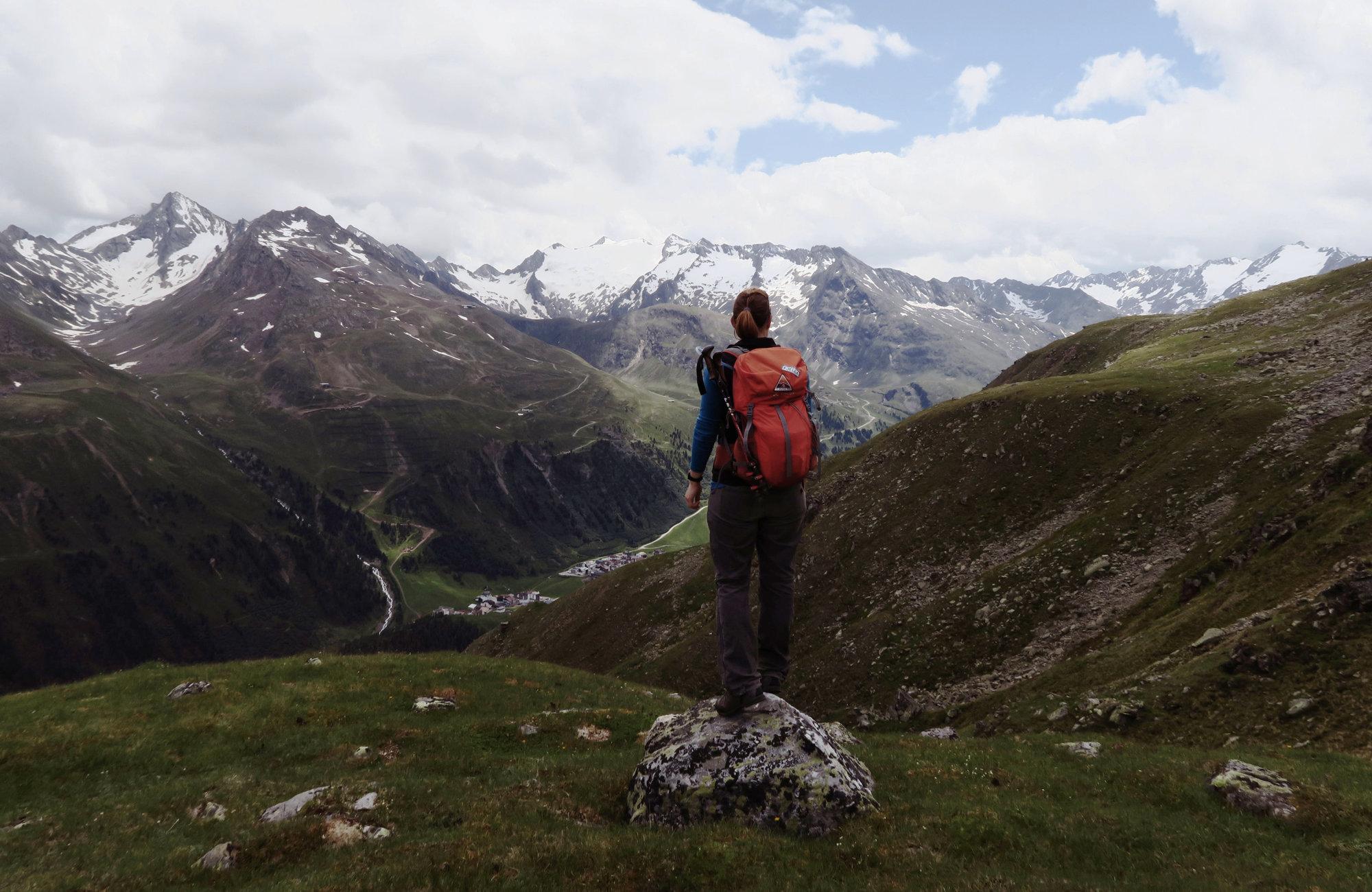 Ausblick auf der Wandertour Seenplatte, Wandern im Ötztal, Wandertour Ötztal, Ötztaler Alpen, Bergwandern, Tirol, Lenzenalm, Nedersee, Sohmsee