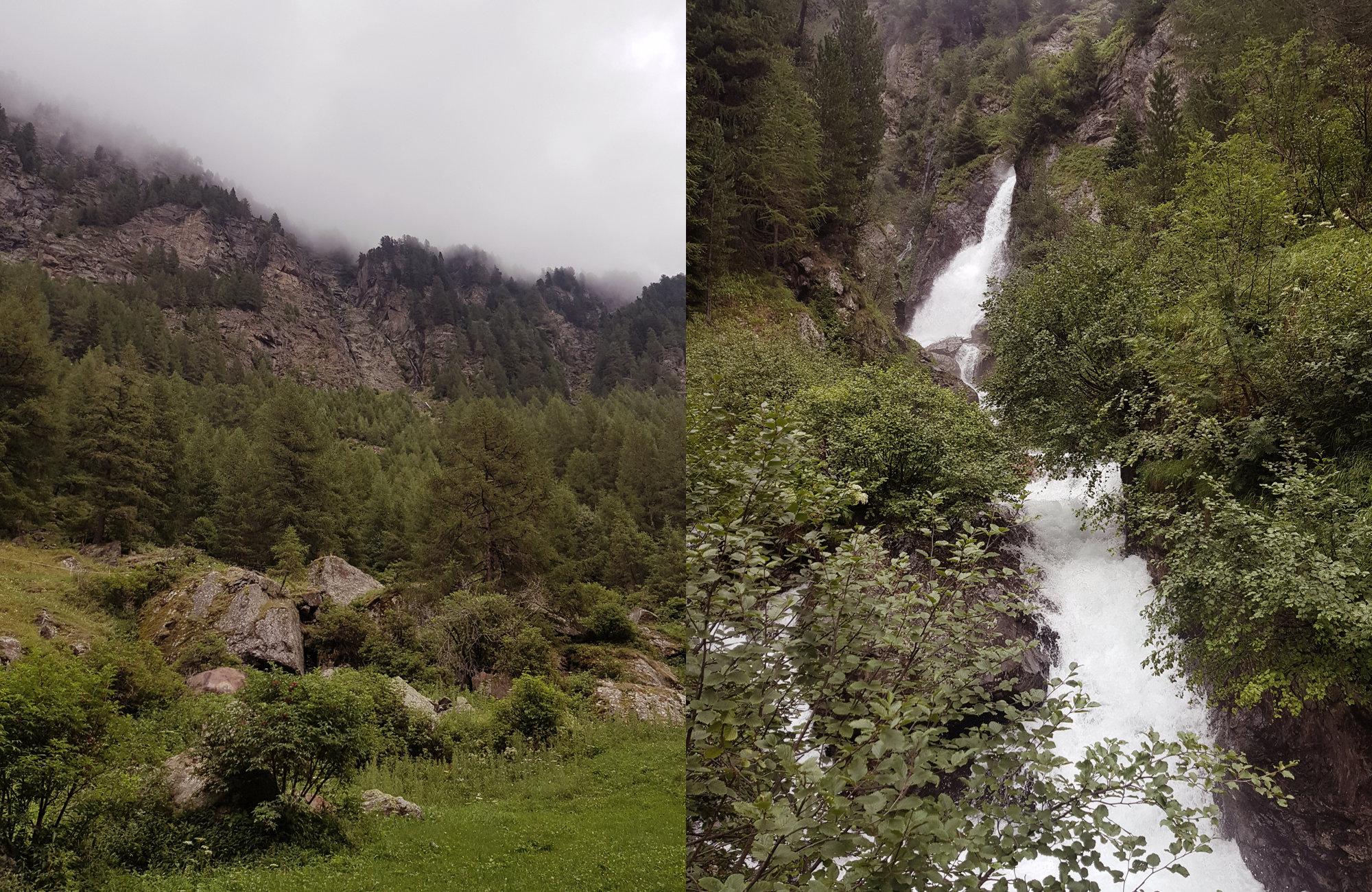 Kühtrein Schlucht, Wandern Ötztaler Urweg, Wandern im Ötztal, Trekking im Ötztal, Ötztaler Alpen, Tirol, Genusswanderung, Regenwanderung