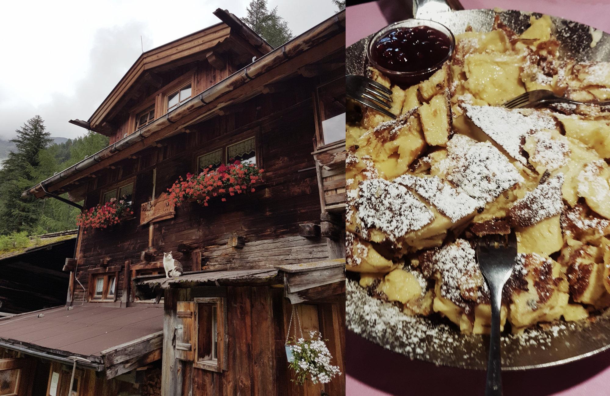 Sahnestüberl mit grandiosem Kaiserschmarrn, Wandern Ötztaler Urweg, Wandern im Ötztal, Trekking im Ötztal, Ötztaler Alpen, Tirol, Genusswanderung, Regenwanderung