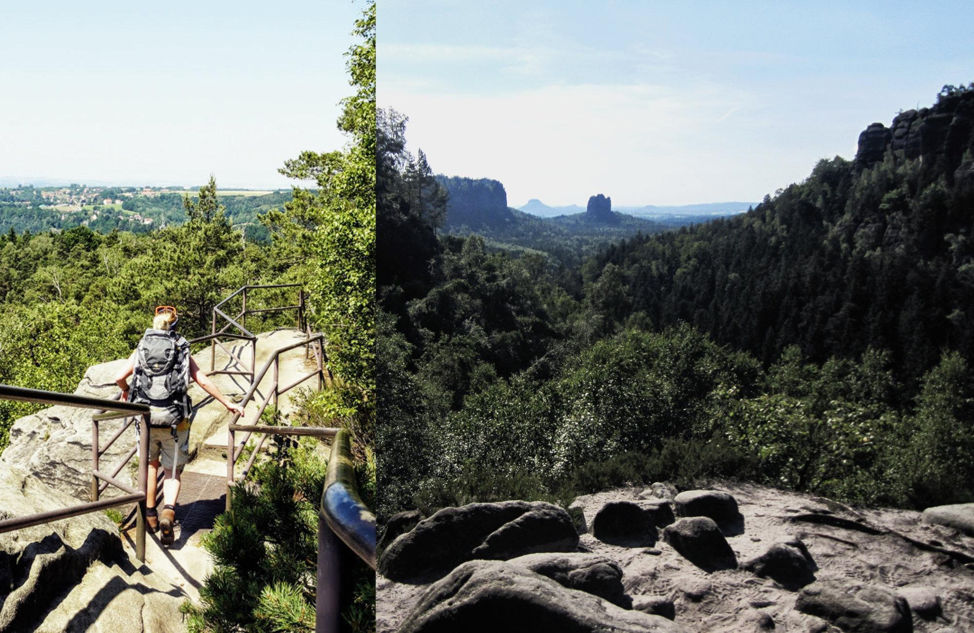 Malerweg Sächsische Schweiz, Wandern im Frühling, Wanderideen Frühling, Wanderungen Frühling, Weitwanderweg Frühling
