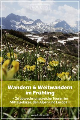 Wandern und Weitwandern im Frühling Pinterest