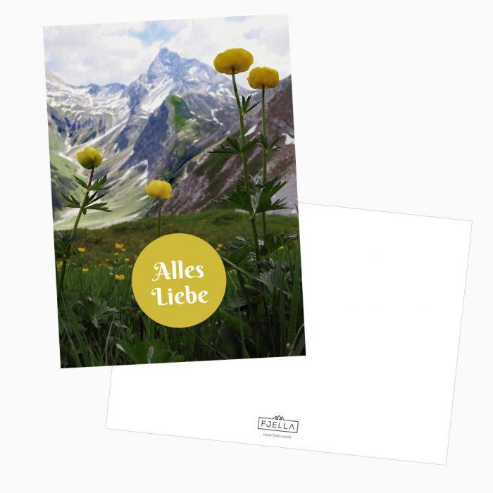 Alles Liebe Postkarte Bergfans
