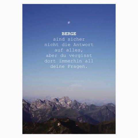 Berge Antwort auf alles Postkarte Webseite 2020