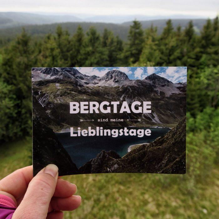 Bergtage sind meine Lieblingstage Postkarte