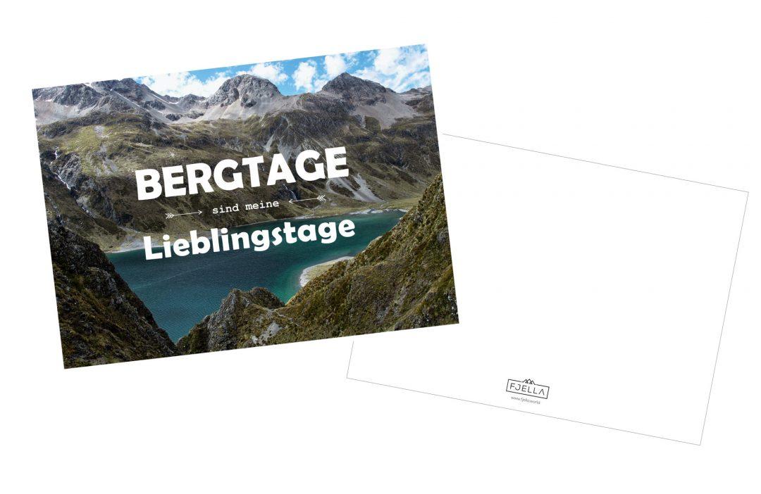 Postkarte mit Bergspruch, Bergtage sind meine Lieblingstage, Inspiration, Motivation, Spruch Berge, Bergfreunde Grußkarte, Postkarte, Bergpostkarte