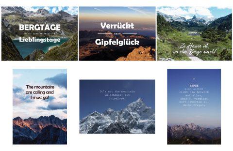 Produktbild Bergpostkarten Sprüche