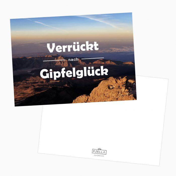 Verrückt nach Gipfelglück Postkarte