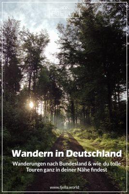 Wandern in Deutschland, Wanderungen, Bundesland Pinterest