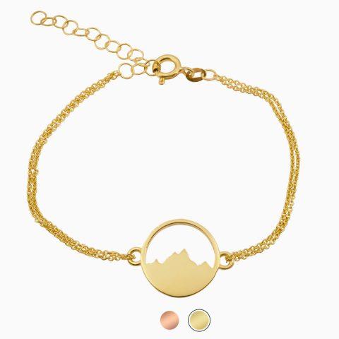 Alpenblick Armband mit Kettchen Vergoldet Buttons Freigestellt Webseite Sept 2020