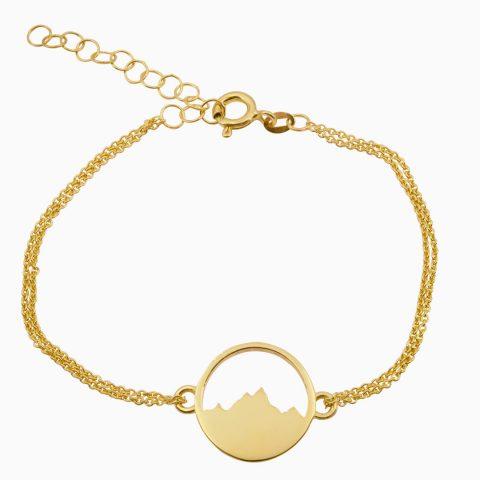 Alpenblick Armband mit Kettchen Vergoldet Freigestellt Webseite Sept 2020