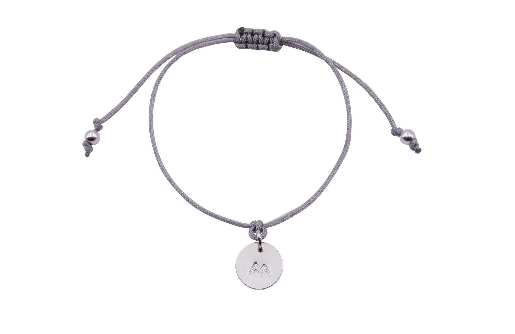 Fjella Mini-Bergfex Armband Schneeberg Silber Grau Freigestellt Webseite