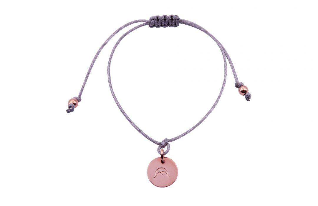 Fjella Mini-Bergfex Armband Sonnenberg Rosévergoldet Grau Freigestellt Webseite