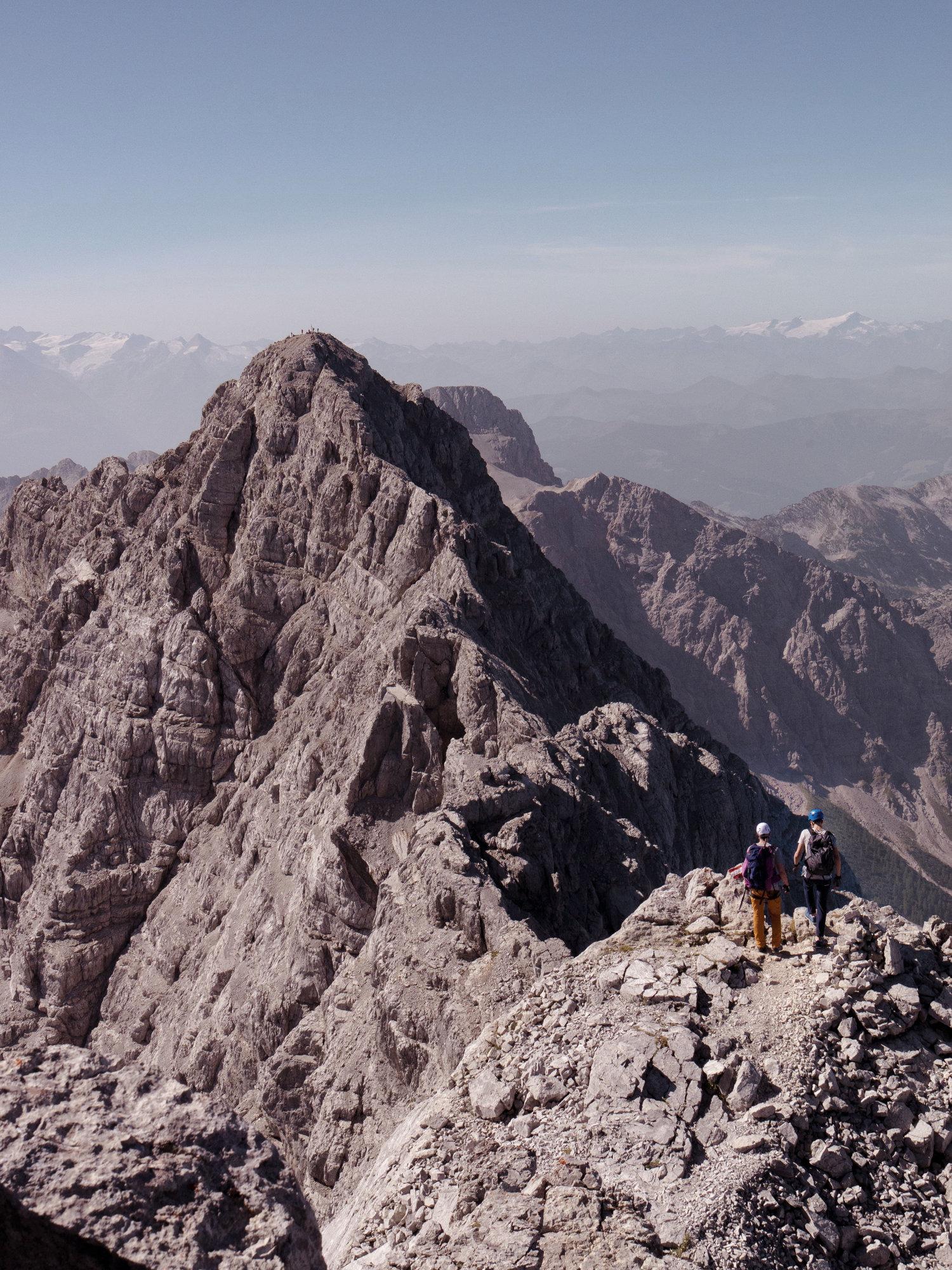 Watzmann Überschreitung, Berchtesgadener Alpen, Watzmanngrat, Hocheck