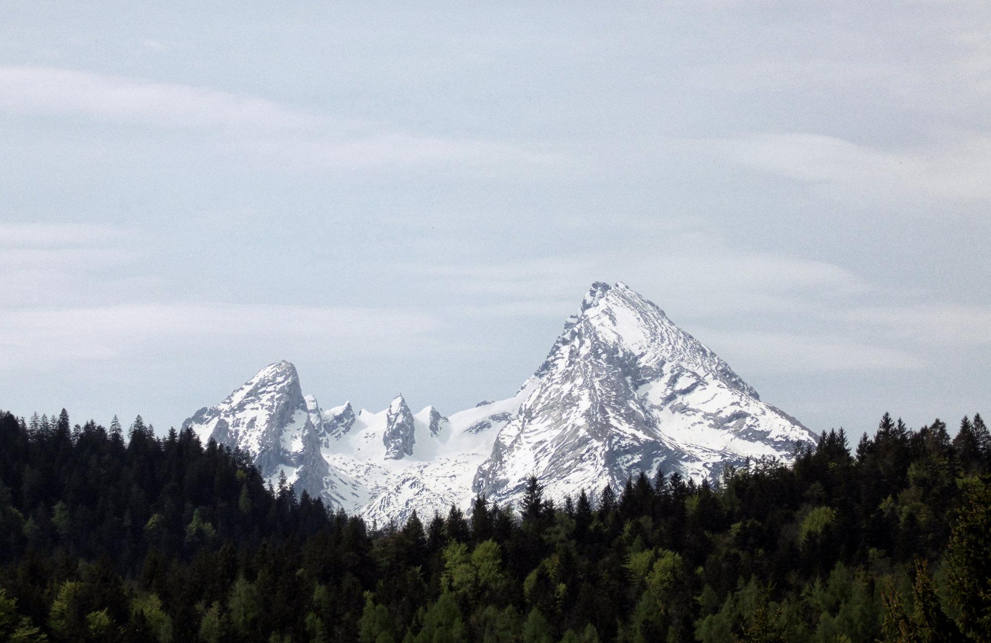 Wanderungen mit Blick auf den Watzmann, Berchtesgadener Alpen