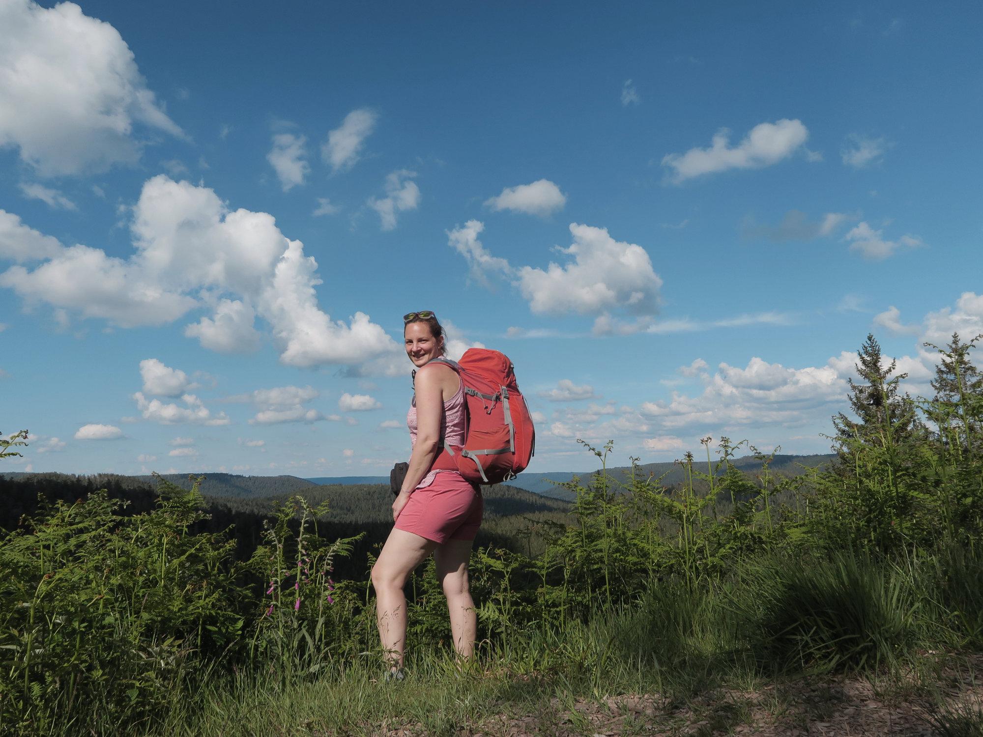 Trekkingtour mit kleinem Rucksack im Schwarzwald