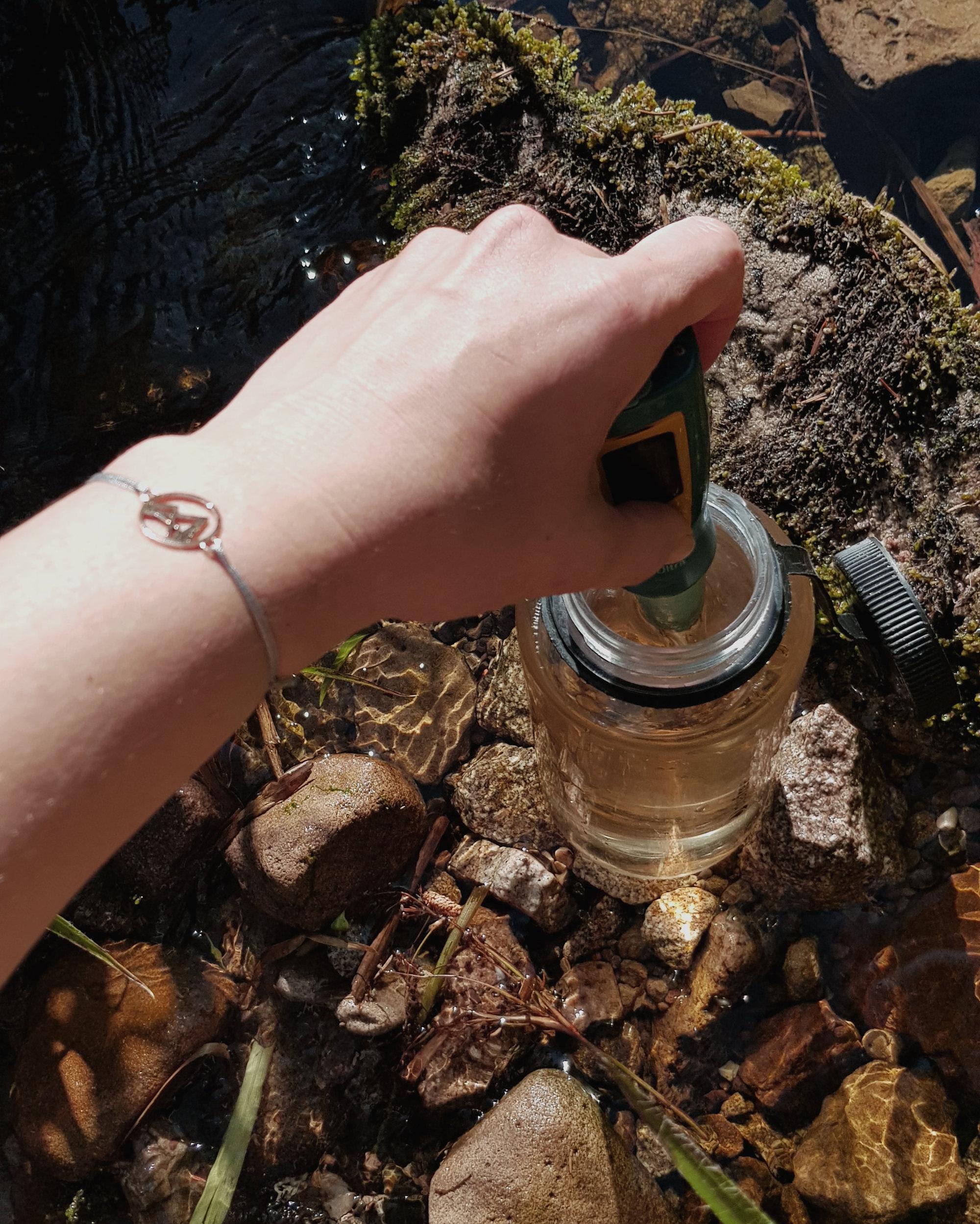 Flusswasser filtern im Schwarzwald