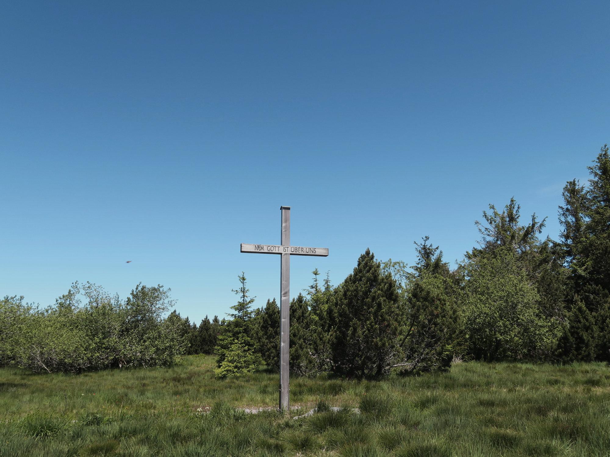 Schliffkopf Gipfelkreuz im Schwarzwald