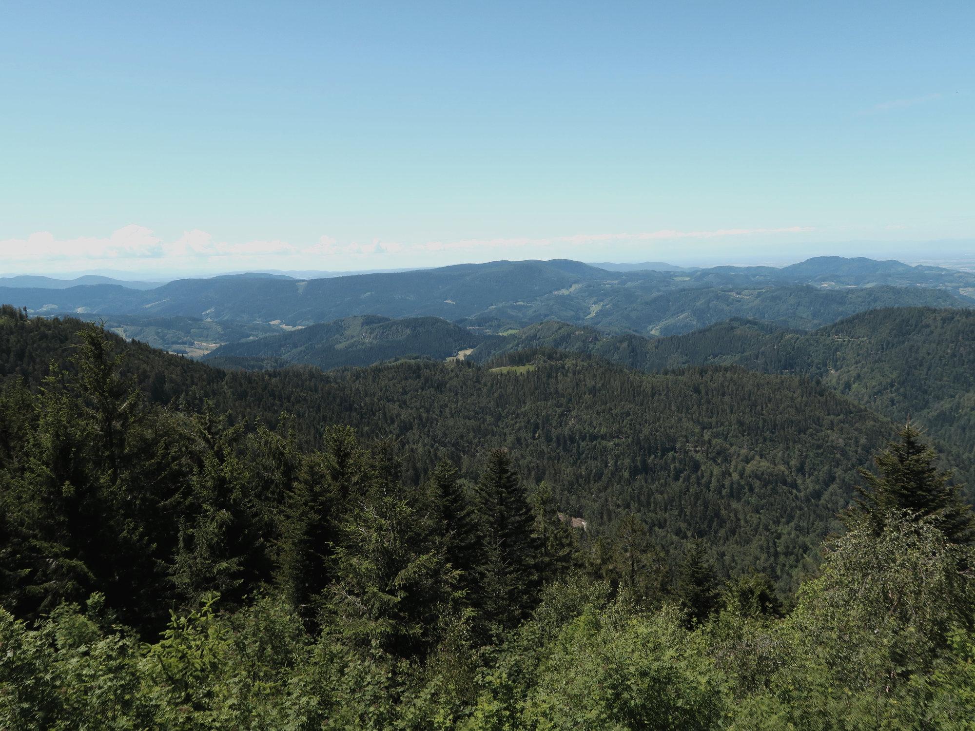 Ausblick von der Aussichtsplattform