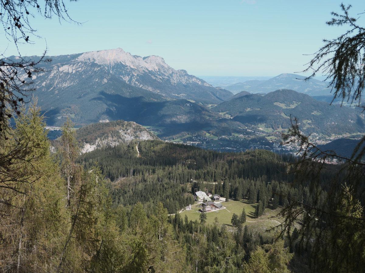 Blick zur Kührointalm und Untersberg