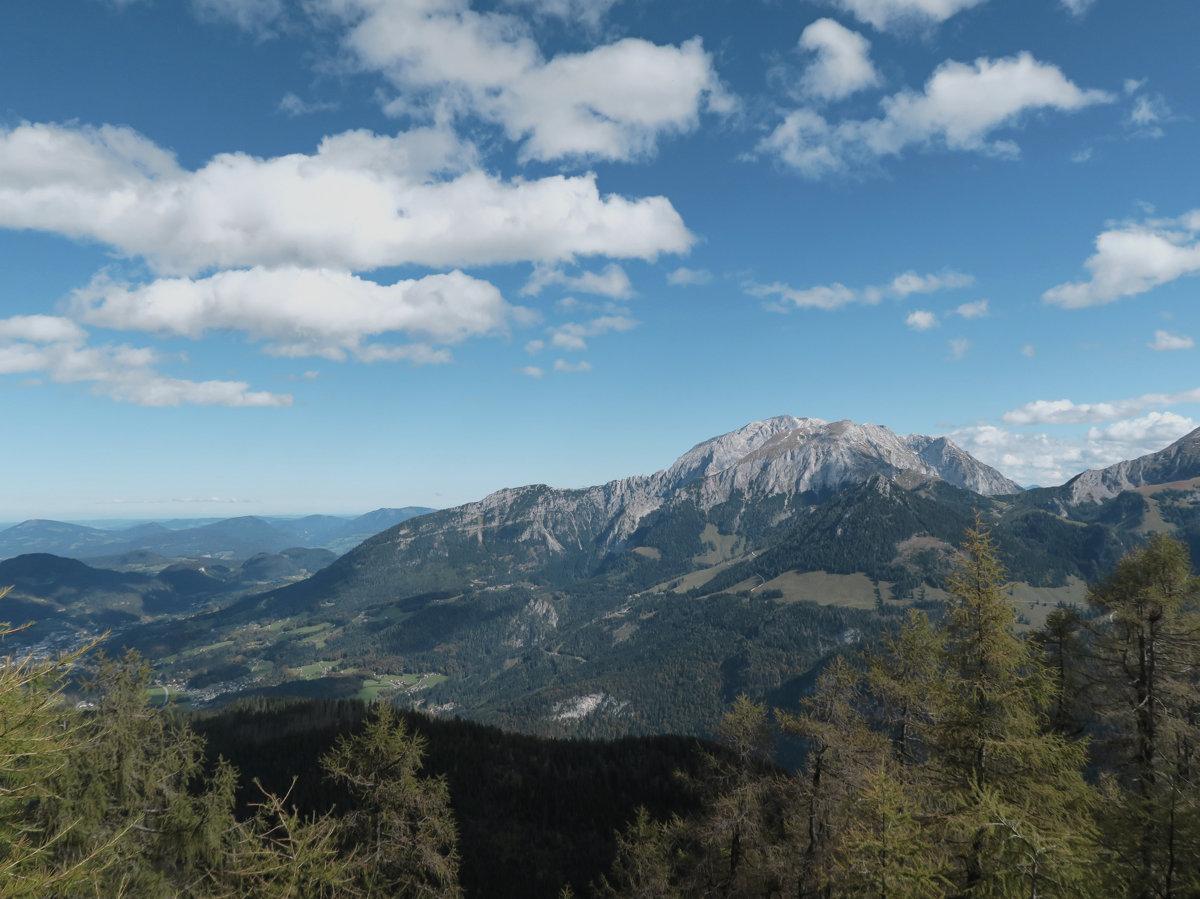 Blick zum Hohen Göll vom Mooslahnerkopf