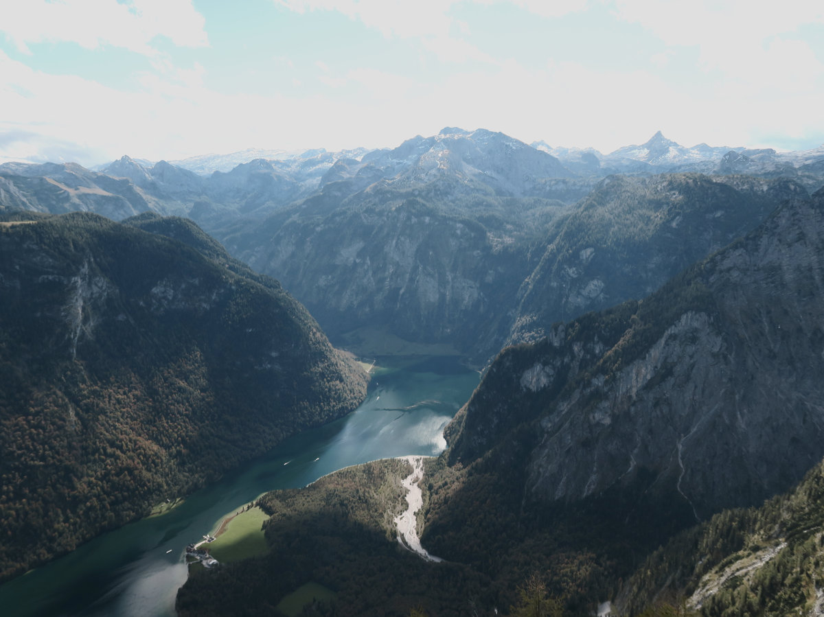 Blick auf den Königssee vom Gipfel des Mooslahnerkopfes