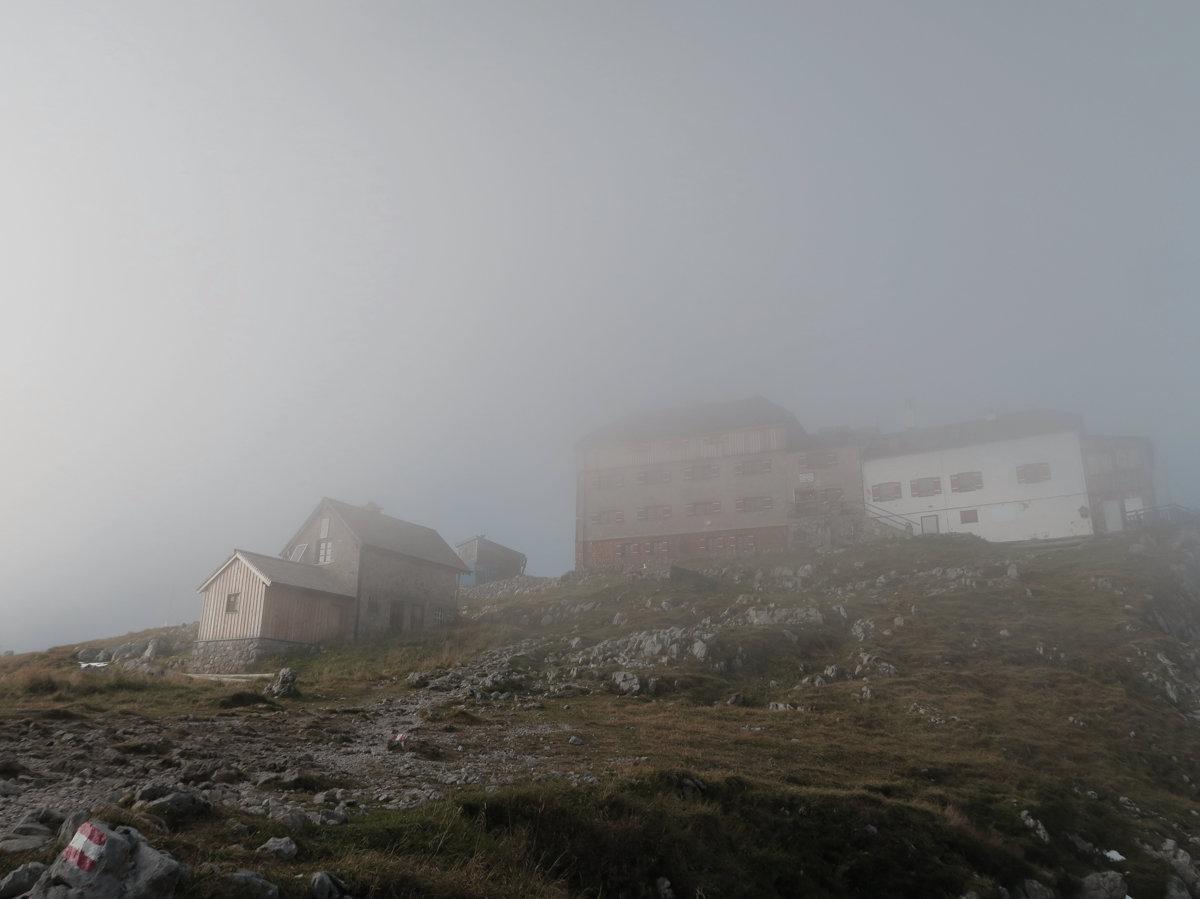 Watzmannhaus im Nebel, Hüttentour Königssee