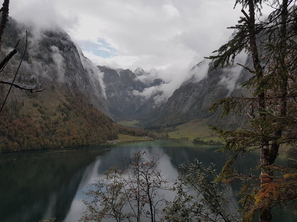 Blick auf den Königssee, Hüttentour Berchtesgadener Alpen, Deutschland