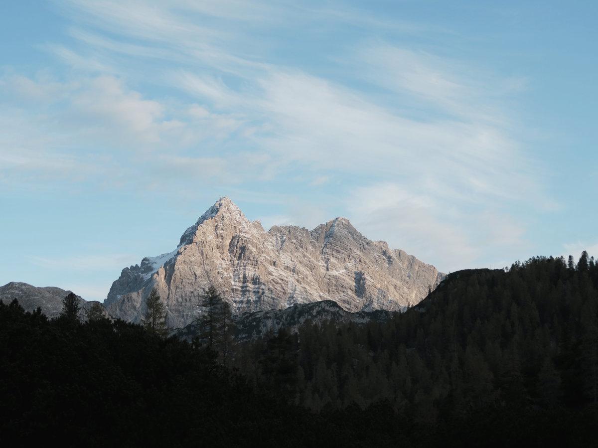 Watzmann im Morgenlicht, Hüttenwanderung Königssee