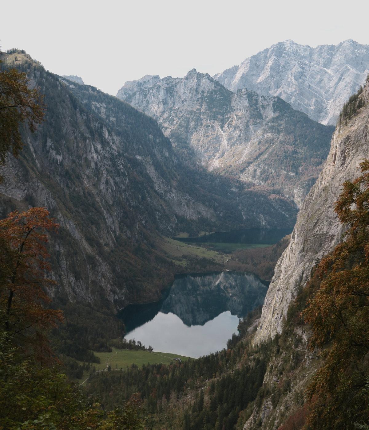 Der schönste Ausblick auf der Hüttentour am Königssee: Obersee, Königssee, Watzmann