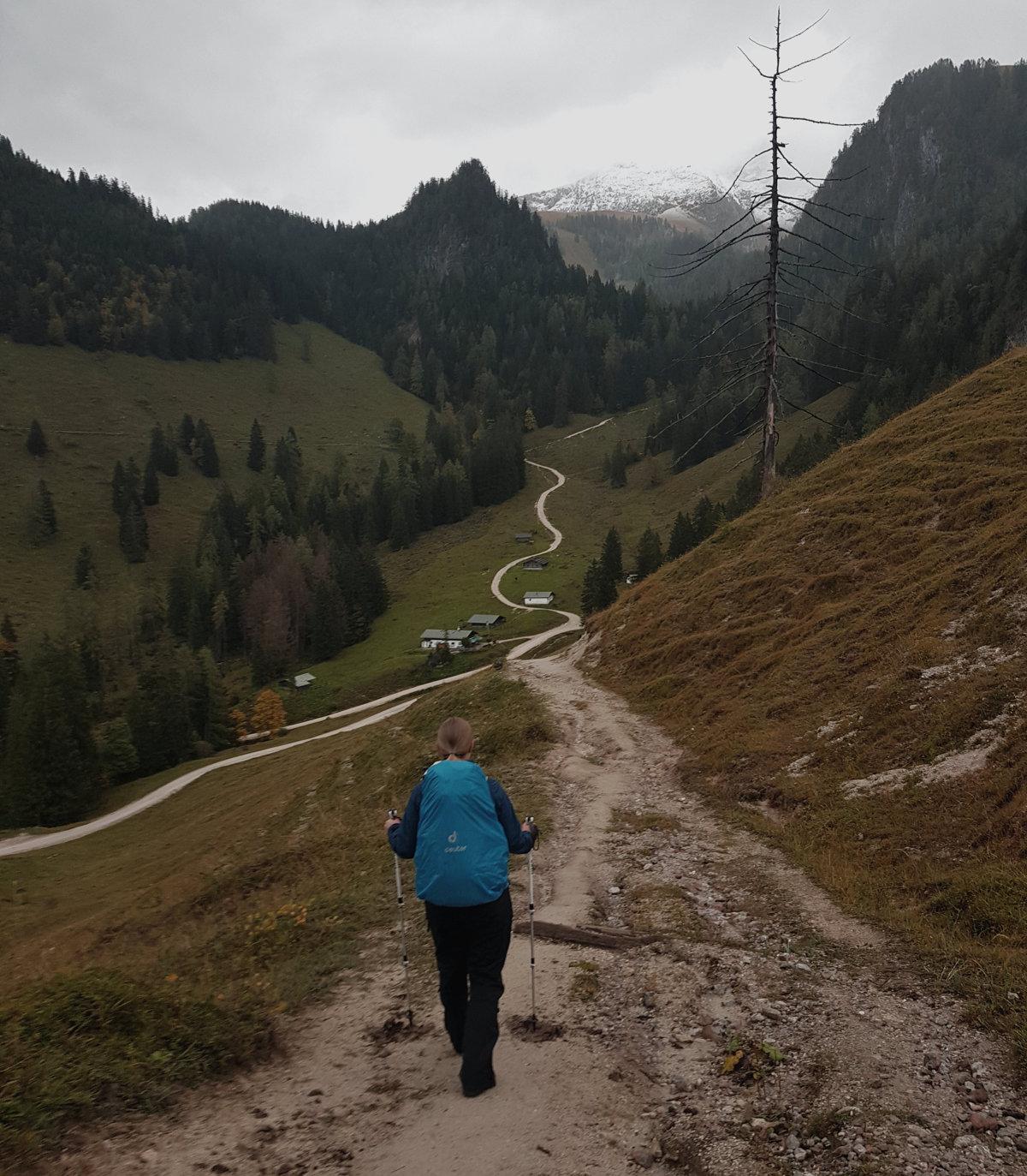 Abstieg nach Schönau
